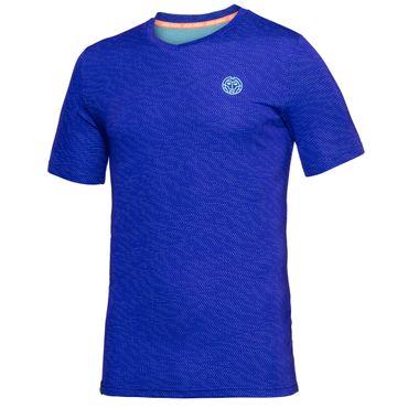 Falou Tech V-Neck Tee - blue (FS18) – Bild 1
