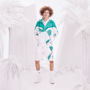 Alex Tech Windbreaker - white/icegreen (SP18) – Bild 3