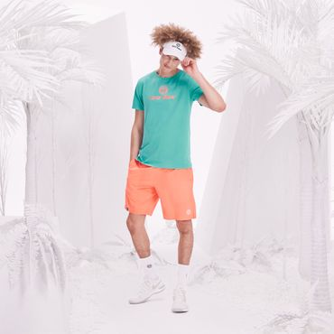 Will Basic Logo Tee - icegreen/neonorange (SP18) – Bild 3