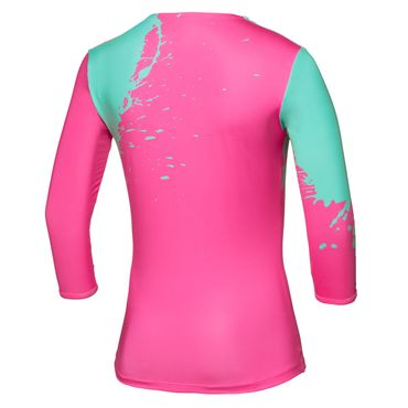 Cyra Tech V-Neck Longsleeve - pink/green (SP18) – Bild 2