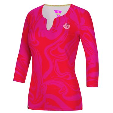 Cyra Tech V-Neck Longsleeve - red/pink (HW18) – Bild 1
