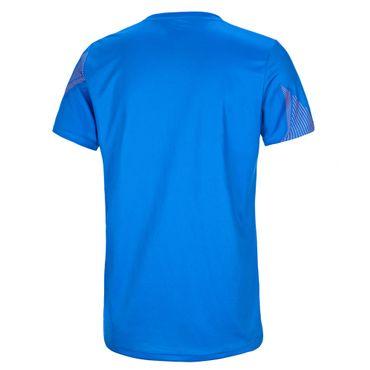 Sunil Tech V-Neck Tee - blue/darkblue/orange (FA18) – Bild 2