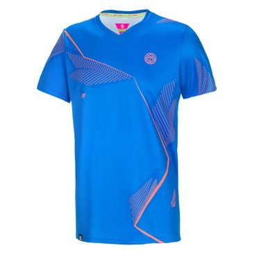 Sunil Tech V-Neck Tee - blue/darkblue/orange (FA18) – Bild 1