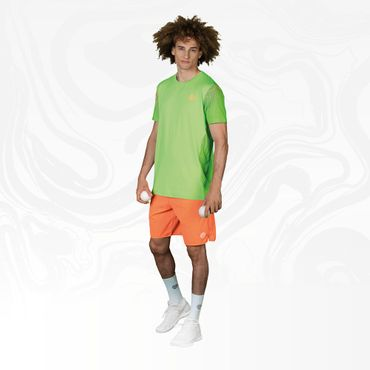 Aro Tech Round-Neck Tee - neongreen/orange/blue (HW18) – Bild 4