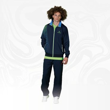 Laurin Tech Tracksuit - darkblue/blue/neongreen (HW18) – Bild 5