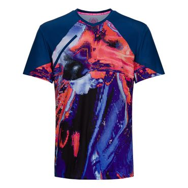 Tai Tech V-Neck Tee - darkblue/red (SP19) – Bild 1