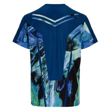 Tai Tech V-Neck Tee - darkblue/neongreen (SP19) – Bild 2