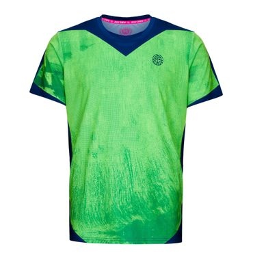 Milo Tech Roundneck Tee - neongreen/darkblue (SP19) – Bild 1