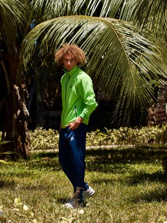 Ethan Tech Tracksuit - neongreen/darkblue (SP19) – Bild 3