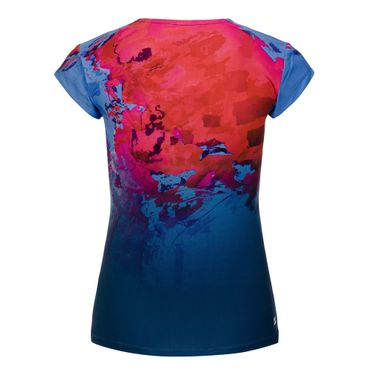 Bella 2.0 Tech V-Neck Tee - darkblue/red/blue (SP19) – Bild 2