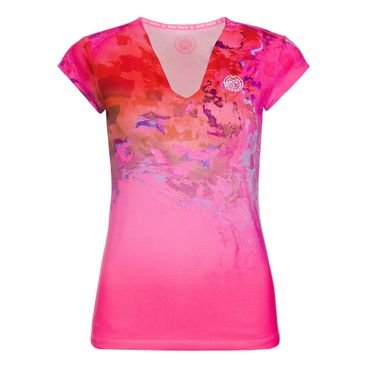 Bella 2.0 Tech V-Neck Tee - pink/red (SP19)