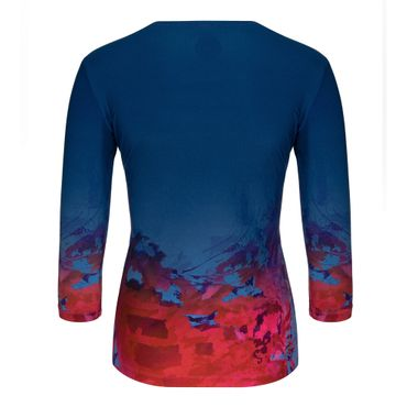 Ariana Tech V-Neck Longsleeve - darkblue/red/blue (SP19) – Bild 2