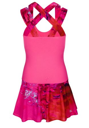 Lipa Tech Dress (2 in 1) - pink/red (SP19) – Bild 2