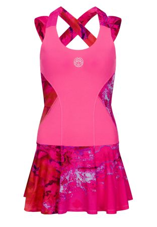 Lipa Tech Dress (2 in 1) - pink/red (SP19) – Bild 1