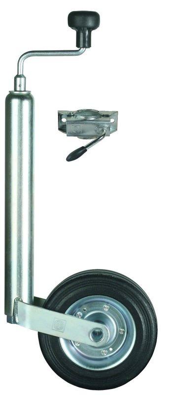 Winterhoff Anhänger- Stützrad  48mm Rohr mit Klemmhalter und Vollgummirad