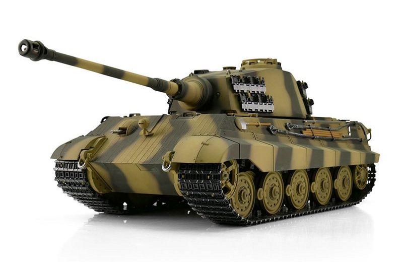 Torro 1:16 RC Panzer KÖNIGSTIGER BB- Schuß 360° Turmdrehung 1112200600 Metall