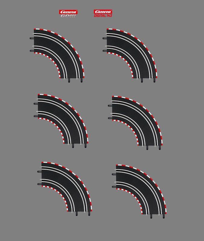 Carrera GO !!! / Dig 143 Kurve 1/90° 6 Stück aus 61603 – Bild 2