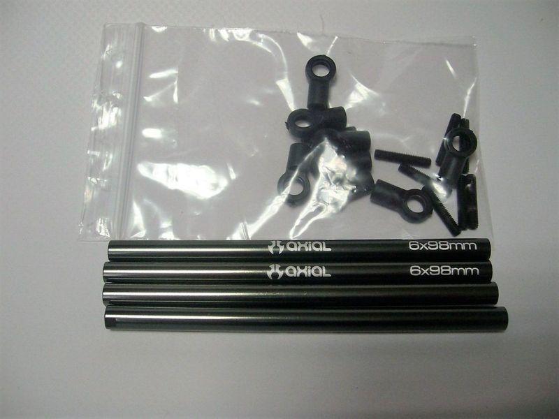 AXIAL SCX10 Alu- Links, 4 Stück, mit Zubehör AX30518