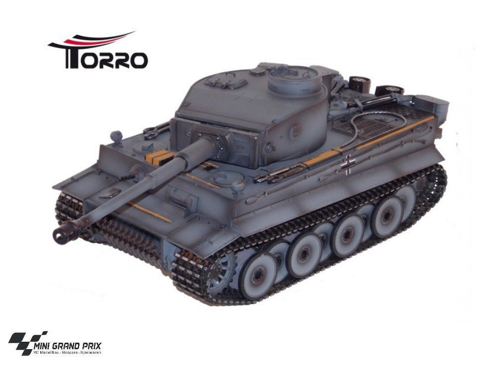 torro 1 16 rc panzer tiger 1 mit metallketten metallwanne. Black Bedroom Furniture Sets. Home Design Ideas