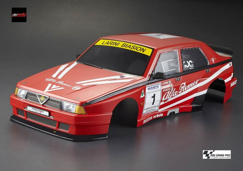 Killerbody Karosserie 1:10 Alfa Romeo 75 Turbo Evol., Rally-racing, RTU all-in KB48482