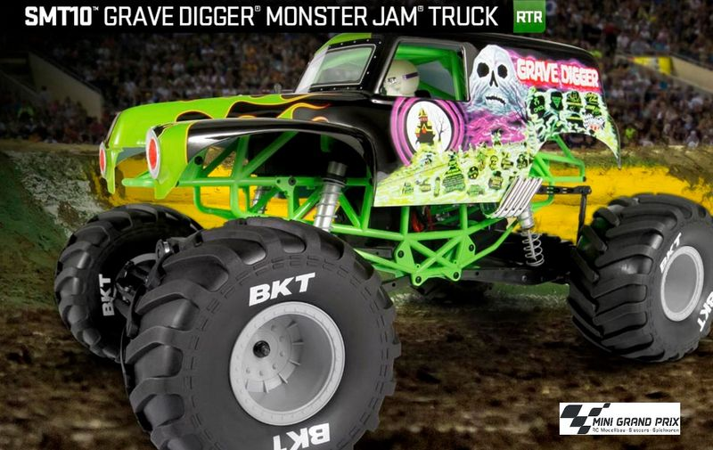 Axial SMT10 Grave Digger Monster Jam 4WD 1:10 RTR AX90055 – Bild 1