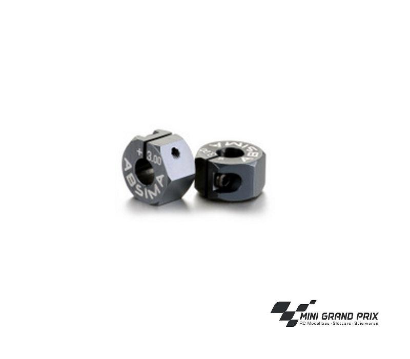 Absima Alu 7075 T6 Radmitnehmer 12mm Offset +3.00mm 1:10 (2) 2560015
