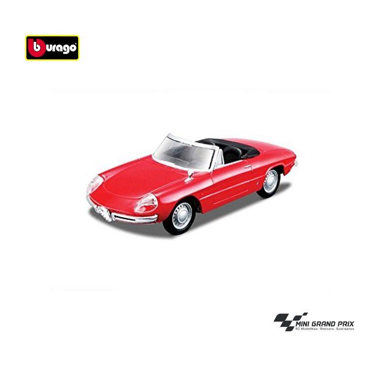 Bburago 1:32 Street Classics Alfa Romeo Spider 1966 Rot 43211 – Bild 2