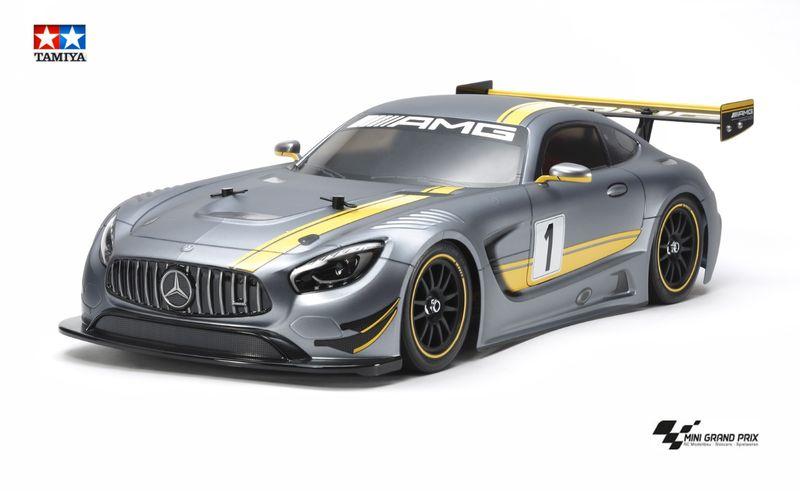 Tamiya 1:10 RC Mercedes-AMG GT3 TT-02 Chassis 58639 Bausatz