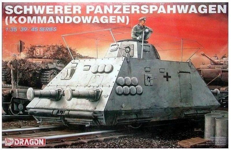 Dragon 1:35 Schwerer Panzerspähwagen (Kommandowagen) 6071 Plastik- Bausatz
