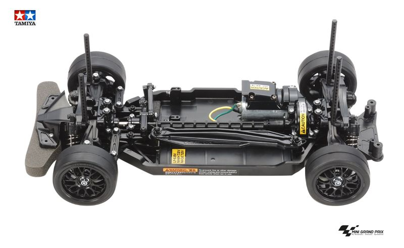Tamiya 1:10 RC TT-02 Chassis, montiert, First Try On-Road 57986
