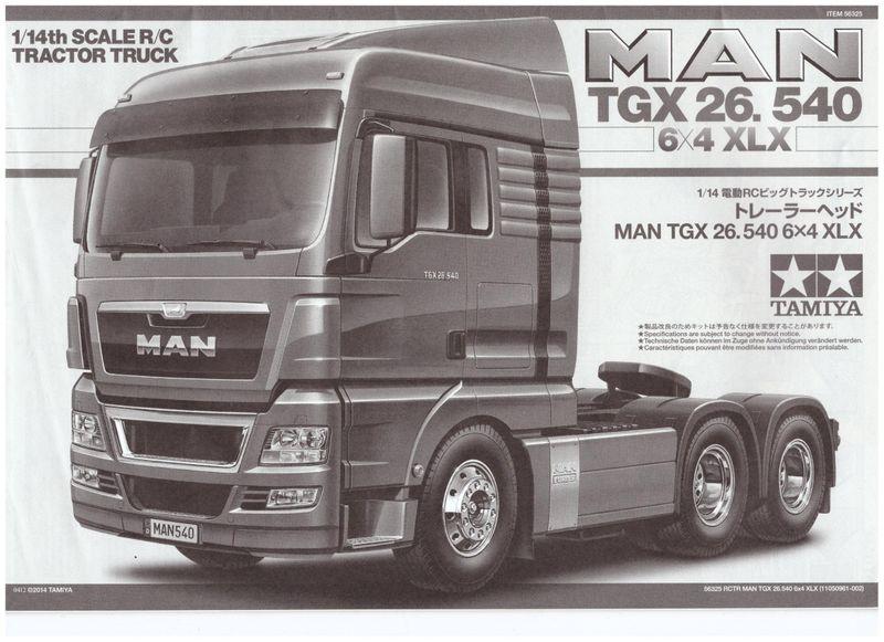 Tamyia Bauanleitung für 56325 MAN Tgx 26.540 6x4 XLX