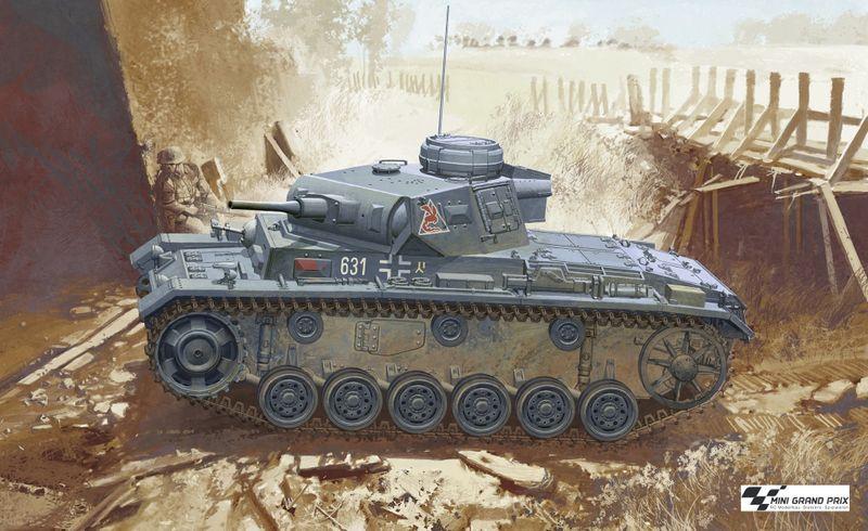 Dragon 1:35 Pz.Kpfw.III Ausf.J Initial Production 6463 Plastik- Bausatz – Bild 1