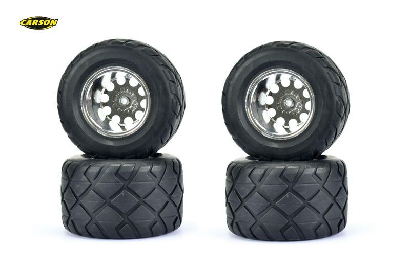 Carson 1:10 Räder-Set Monster Street 2WD 4 Stück 500900121+500900122 – Bild 1