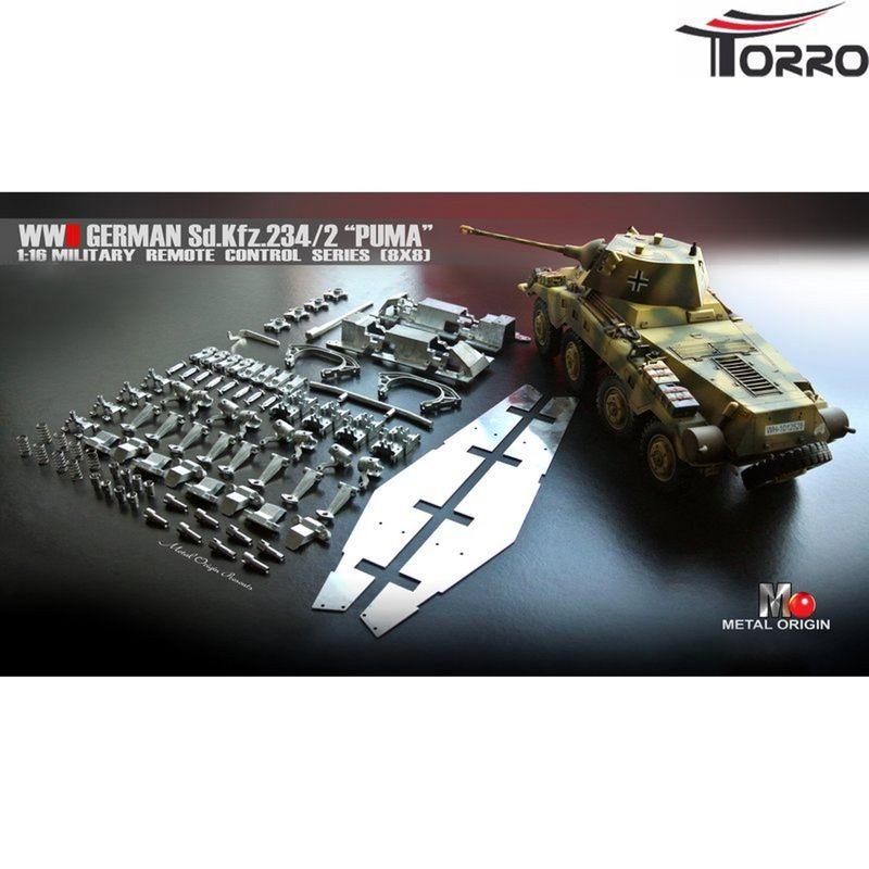 Torro SdKfz 234/2 Puma Bausatz 1:16 Profi Bundle mit Regler, Motor, Servo, etc.2111608013 – Bild 2