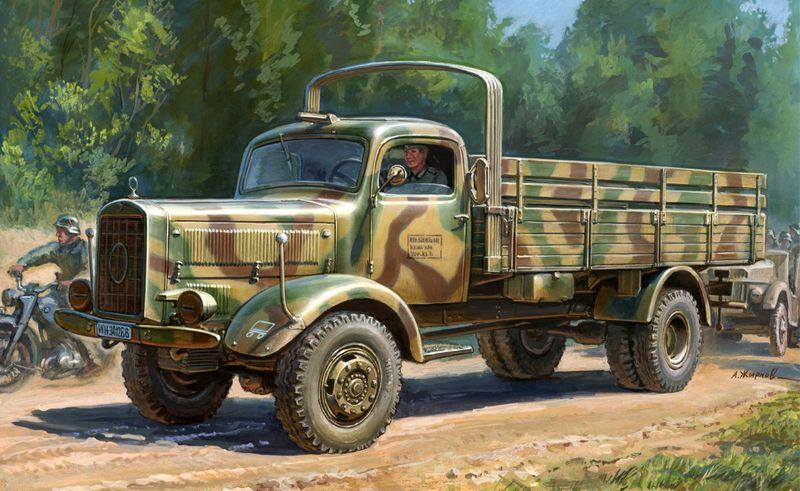 Zvezda 1:35 WWII Dt.Transport-LKW L4500A 3596 – Bild 1