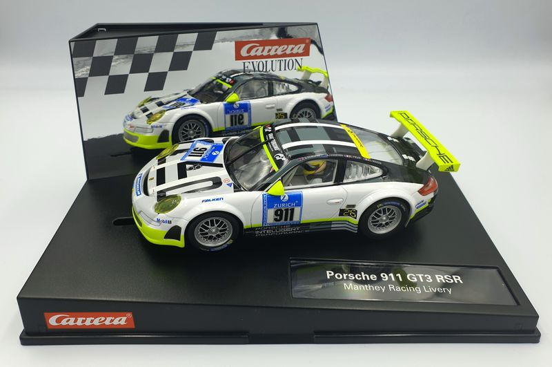 Carrera Evolution Porsche 911 GT3 RSR Manthey Racing Livery 27543 – Bild 1