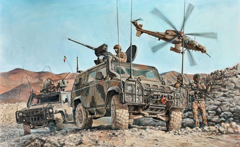Italeri 1:35 4x4 IVECO Lince Military Vehicle 6504 Plastik Bausatz – Bild 2