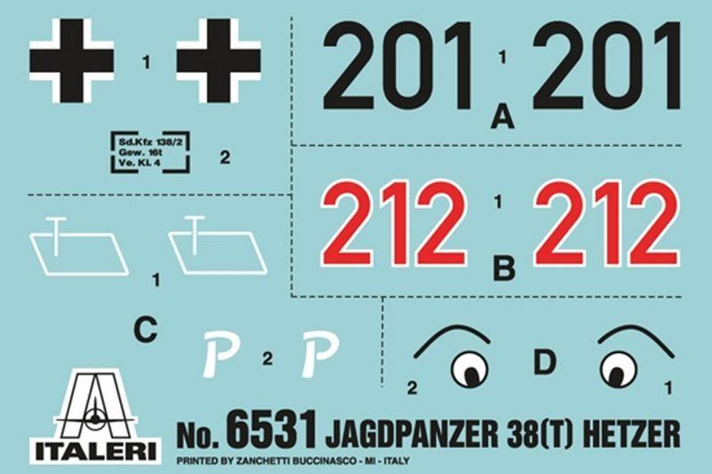 Italeri 1:35 Jagdpanzer 38 (t) HETZER 6531 Plastik Bausatz – Bild 3