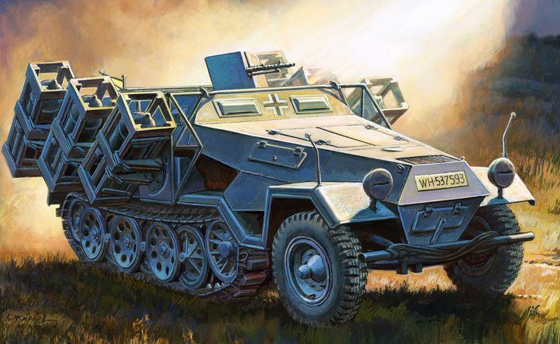 "Zvezda 1:35 Sd.Kfz.251/1 Ausf.B ""Stuka zu Fuss"" 500783625 Plastik Bausatz"