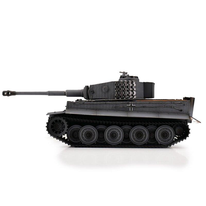 Torro RC Tiger 1 Späte Ausführung BB Grau mit Metallwanne, BB grau 1112405223 – Bild 3