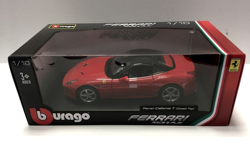 Bburago 1:18 Ferrari California T (closed Top) Rot 16003R Die Cast – Bild 1