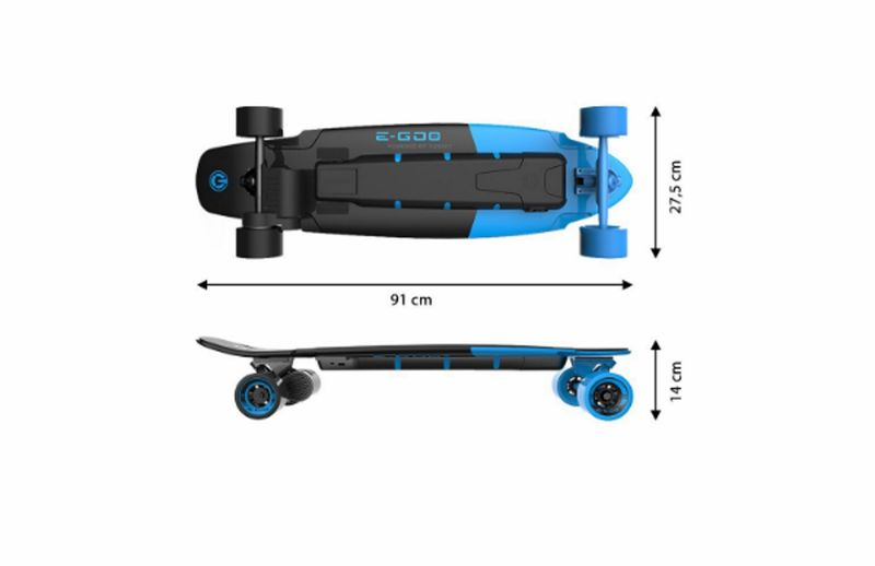 Yuneec E-GO 2 Elektrisches Skateboard Royal Wave EGO2CREU001 Long Board Blau – Bild 2