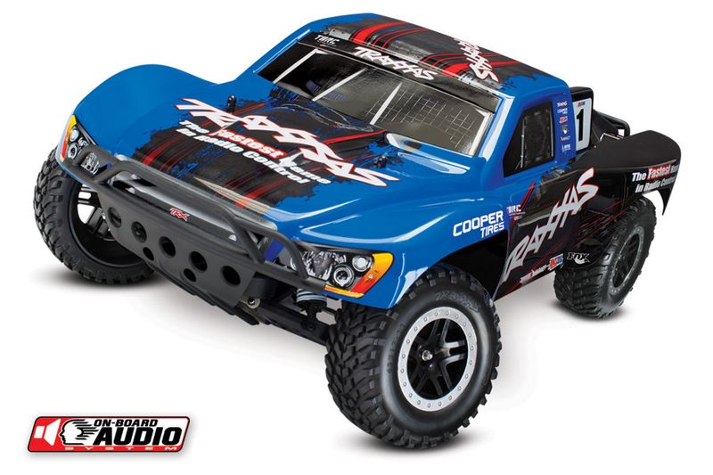 TRAXXAS Slash RTR 1:10 2.4GHz Short Course Racing Truck mit Sound 58034-2BLUE – Bild 2