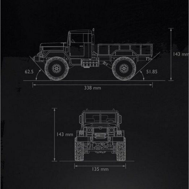 Heng Long / Torro 1:16 RC U.S. Military Truck Sand Beige 1112438532 – Bild 3