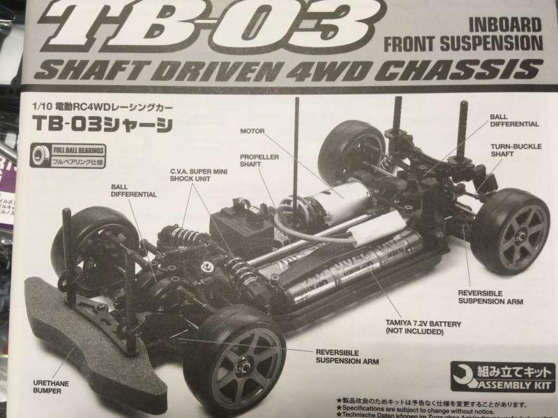 TAMIYA RC 1:10 TB-03 Chassis, Bausatz ohne Regler und Karosserie – Bild 2