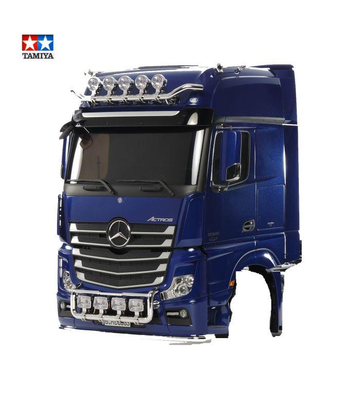 Tamiya 1:14 Fahrerhaus- Teile Actros 3363 Pearl Blue lackiert aus 56354 – Bild 1