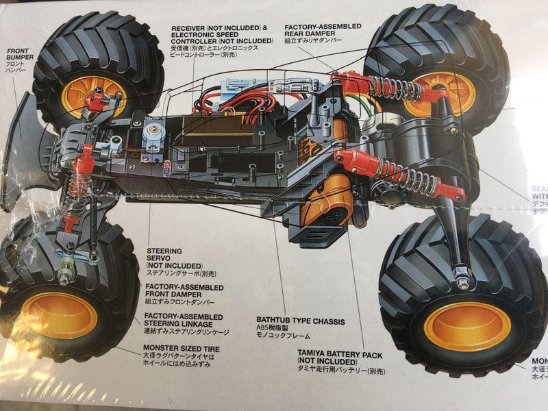Tamiya 1:10 RC Mad Bull 2WD Monster Truck Bausatz 58205 – Bild 2