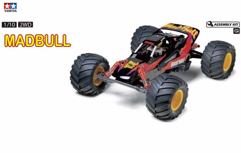 Tamiya 1:10 RC Mad Bull 2WD Monster Truck Bausatz 58205 – Bild 1