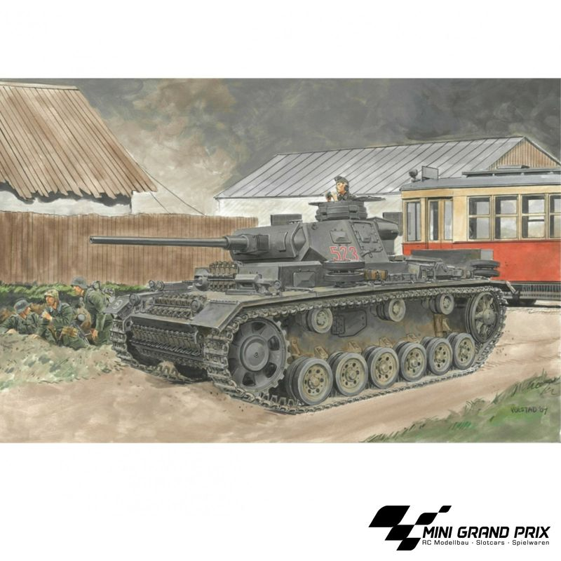 Carson 1:35 Pz.Kpfw.III Ausf.J (w/Magic Track) 500776394