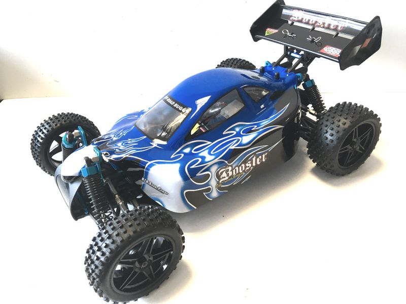 Amewi Booster RC Buggy Brushed 4WD 1:10 RTR Orange 22031 + Akku – Bild 4